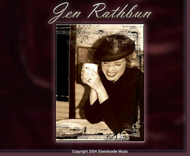Photo by T. Struzik, Art-work by Aaron Geis, image from Jen Rathbuns latest Jazz CD, Coffee, Chocolate & Men